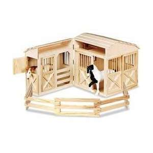 Melissa & Dougs Folding Horse Stable & Horse Friends Set