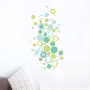 Turquoise Polka Dots Wall Decal Color print