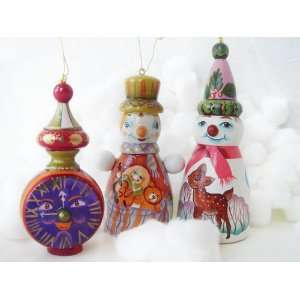 Russian Handcrafted Wooden Doll Holiday Christmas