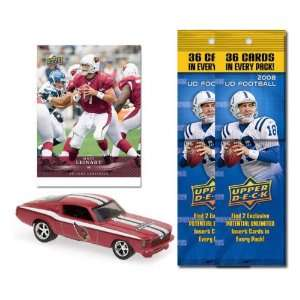 Arizona Cardinals 1967 Ford Mustang Fastback Die Cast with Matt