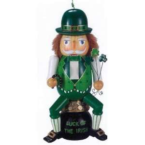 Kurt Adler Wooden *Irish* Nutcracker 12 Tall Everything