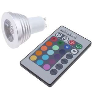 3W 16 Colors Remote RGB LED Light Bulb for Decoration Party Bar