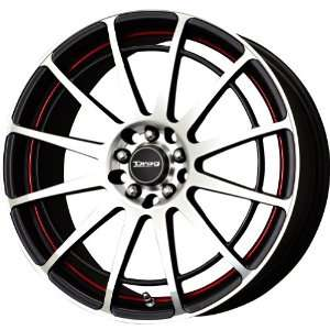 Drag D42 Racing Black Machined Wheel (17x7.5/4x100mm