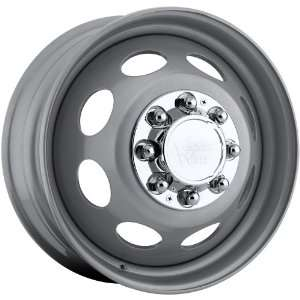 Vision Hauler Dually Steel Front 8x210 Silver Wheels Rims Inch 19.5