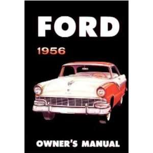 1956 FORD Car Full Line Owners Manual User Guide
