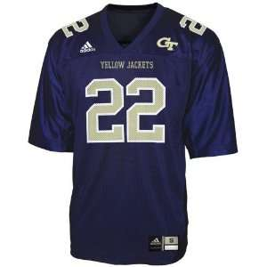 adidas Georgia Tech Yellow Jackets #22 Navy Blue Replica
