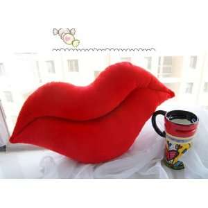 Big Sexy Lips Cushion Pillow red