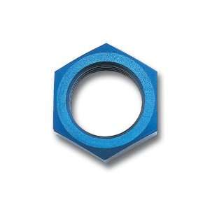/Russell 661870 Blue Anodized Aluminum  3AN Bulkhead Nut Automotive