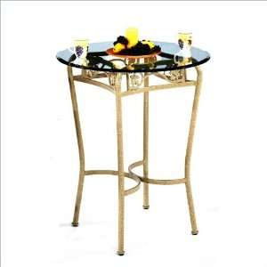 Round Tempo Solvang Wide 40 Bar Height Pub Table Furniture & Decor