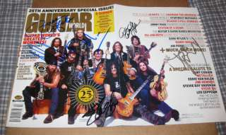 GUITAR WORLD MAGAZINE Signed SLASH JOE PERRY ZAKK WYLDE