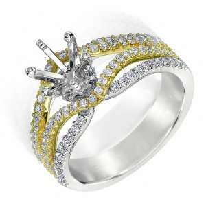 14k TWO TONE GOLD WOMENS RING LR 5479 DIAMOND 0.65CT TW Jewelry