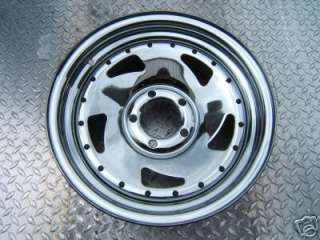 Set of (2) 13 CHROME RAZR trailer rim wheel tire