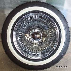 13 100 Spoke All Chrome Wire Wheels 13x7 DeepDish TIRE PACKAGE