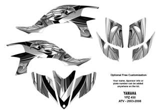 YAMAHA YFZ450 Atv Graphic Decal Sticker Kit Metalic Eagle 5700M