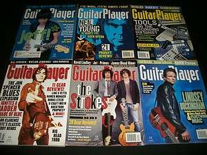 2002 2004 GUITAR PLAYER MAGAZINE LOT OF 11 ISSUES   MUSIC MAGAZINES