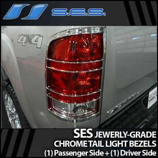 2007 2012 GMC Sierra SES Chrome Tail Light Bezels