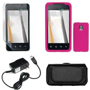 Brand LG G2X Combo Solid Hot Pink Silicone Skin Case Faceplate Cover