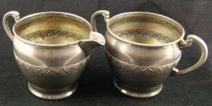 Vintage ROYAL ROCHESTER Silver Plate Cream & Sugar 2655