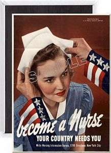 Country Needs You – WWII War Propaganda Poster Fridge Magnet wn04