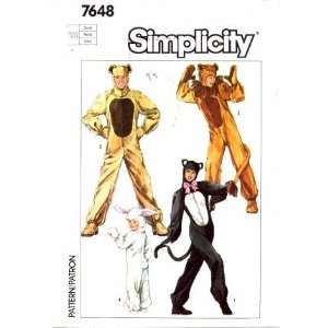 Simplicity 7648 Sewing Pattern Adult Animal Costumes Bust