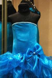 PAGEANT FLOWER GIRL HOLIDAY PRINCESS DRESS 4341 TURQUOISE SIZE 4 6
