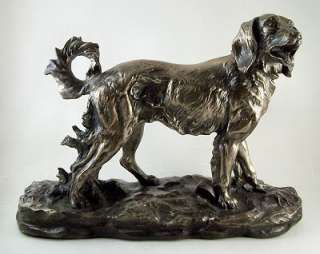 Collectable BRONZED GOLDEN RETRIEVER DOG Statue NEW