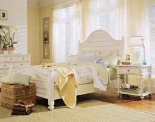 American Drew CAMDEN White Queen Panel Bedroom Set