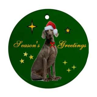 WEIMARANER DOG CHRISTMAS XMAS TREE PORCELAIN ORNAMENT