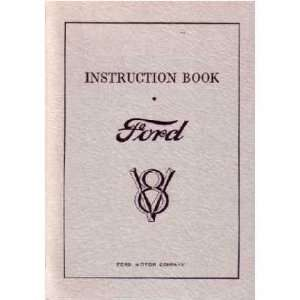 1932 FORD V 8 V8 Car Owners Manual User Guide Automotive