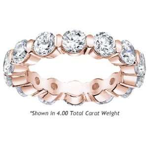 Womens Diamond Eternity Band Single Prong Setting Round
