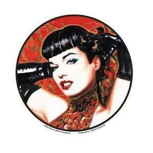Red Bettie with Gloves Bettie Page Pinup Car Sticker Decal Automotive