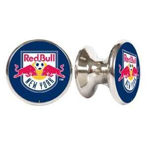 New York Red Bull MLS Stainless Steel Cabinet Knobs / Drawer Pulls (2