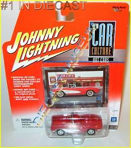 1961 61 CHEVY CHEVROLET CORVETTE CAR CULTURE DIECAST JOHNNY LIGHTNING