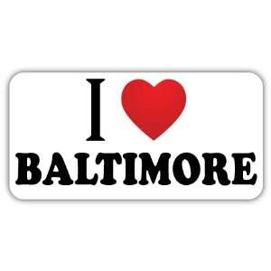 I Love BALTIMORE Car Bumper Sticker Decal 6 X 3