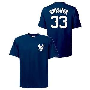 New York Yankees Nick Swisher Name and Number Navy T Shirt