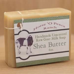 Handmade 100% Raw Goat Milk Shea Butter Soap (4oz./Bar) Beauty