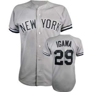 com Kei Igawa Majestic MLB Road Grey Replica New York Yankees Jersey