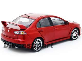 18 MITSUBISHI LANCER EVO EVOLUTION X BRAND NEW DIECAST MODEL CAR RED