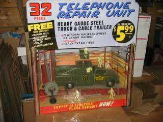 store display 1958 Deluxe Lumar pressed steel telephone truck