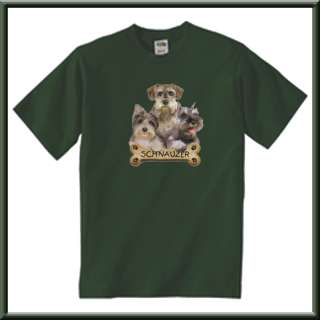 Schnauzer Puppies With Bone Puppy Dog T Shirt S,M,L,XL,2X,3X,4X,5X
