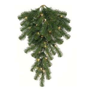42 Pre Lit Douglas Fir Teardrop Christmas Door Swag