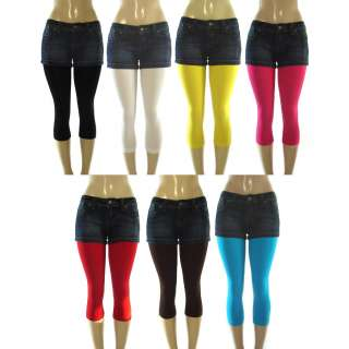 NEW WOMENS STRETCH LEGGINGS STOCKINGS TIGHTS ONE SIZE FITS ALL MULTI
