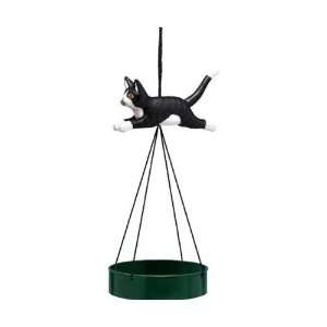 Bird Feeder Suspend Tray Cat Black/White Leaping (Bird Feeders) (Cat