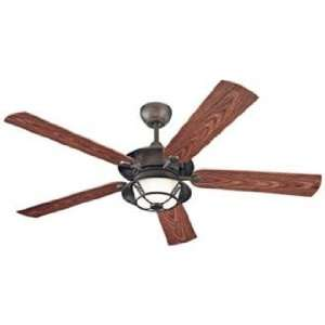 52 Monte Carlo Burnet Outdoor Ceiling Fan with Light