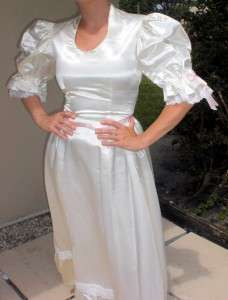 COLONIALWHITE CIVIL WAR REENACTMENT GOWN WEDDING Bridal DRESS