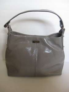 KATE SPADE Summerville Small Natia Patent Gray Bag $295