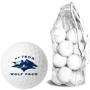 Nevada Wolf Pack NCAA 15 Golf Ball Clear Pack Sports