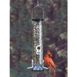 Droll Yankees 12 in. Onyx Tube Sunflower Feeder with