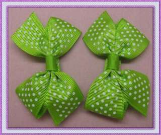 New 2.4 inch Girls Baby Large strip Hair Bow Clip flower hairpin