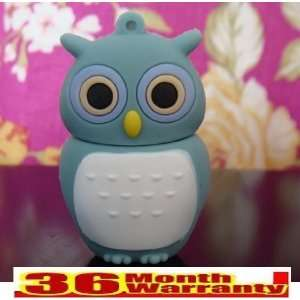 Cute Owl Shinning Cartoon Shape 4gb Crystal USB Flash